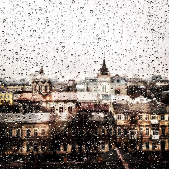 ukraine rainy window