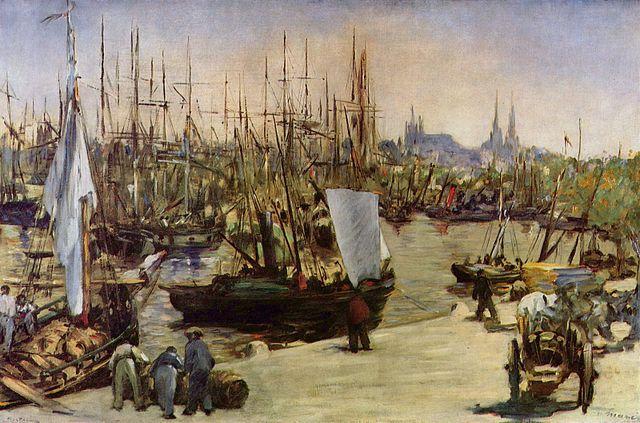 Harbor-at-Bordeaux-painting-by-Édouard-Manet